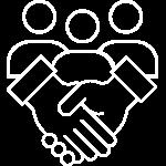 Illustrative Graphic Icon showing Partnerships
