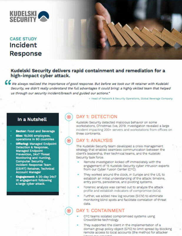 Resource - Case Study - Incident Response