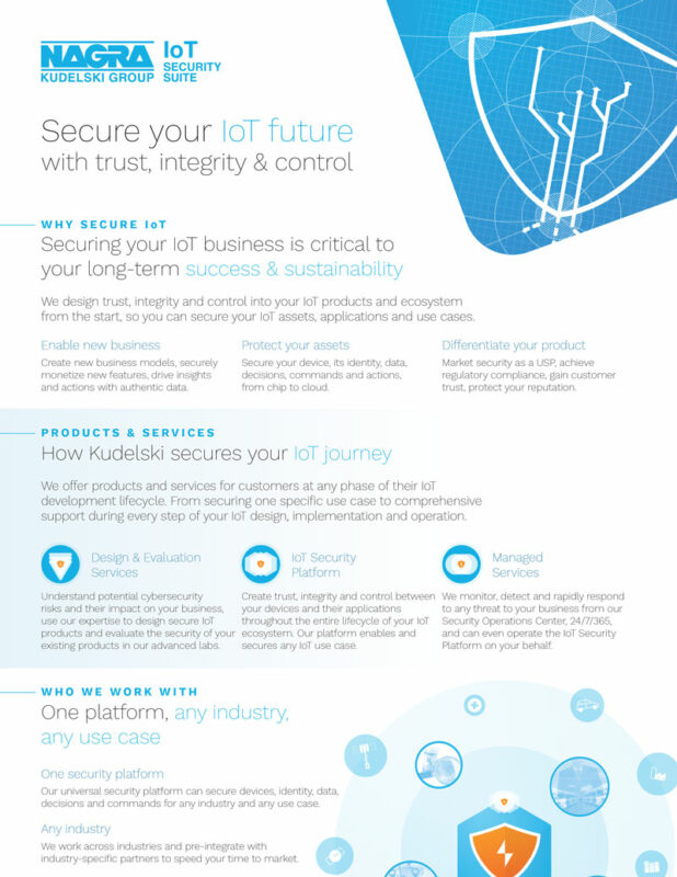 Secure your IoT future with trust, integrity and control