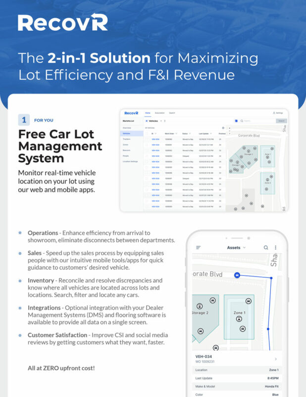 RecovR Lot Management and Theft Recovery Solution