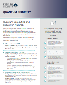 Quantum Security Fact Sheet