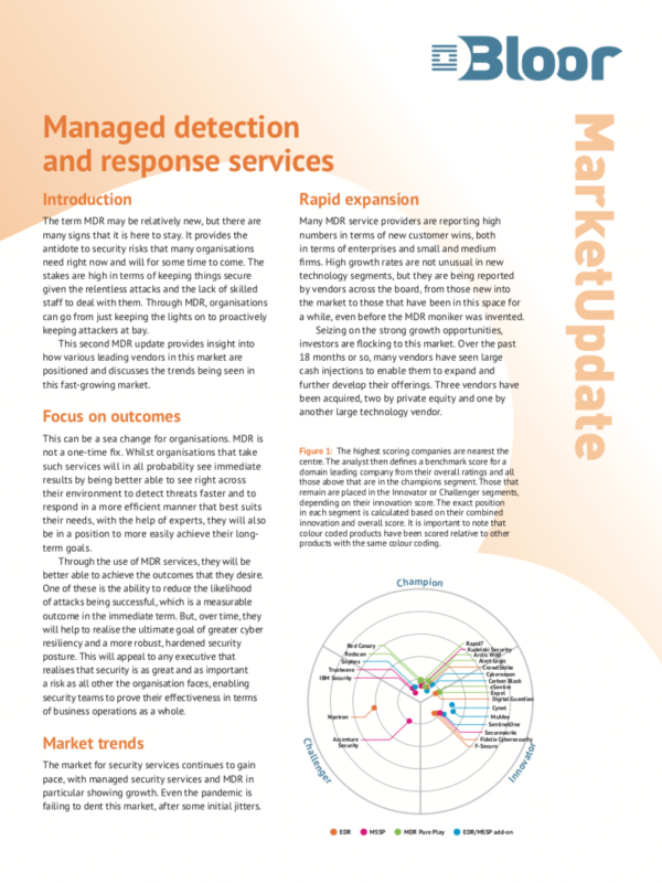 2021 Bloor Managed Detection & Response Market Update